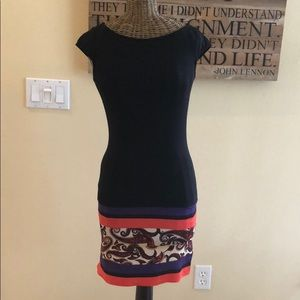 NWT Guess by Marciano Black Dress XS Paisley